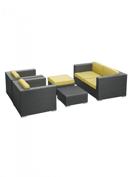 Lime Green Cushion Cayman Espresso 5 Piece Outdoor Set 2 461x614