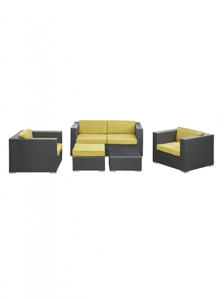 Lime Green Cushion Cayman Espresso 5 Piece Outdoor Set1 461x614