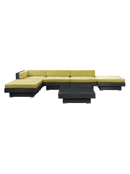 Palm Springs 6 Piece Outdoor Sofa Set Modern Furniture