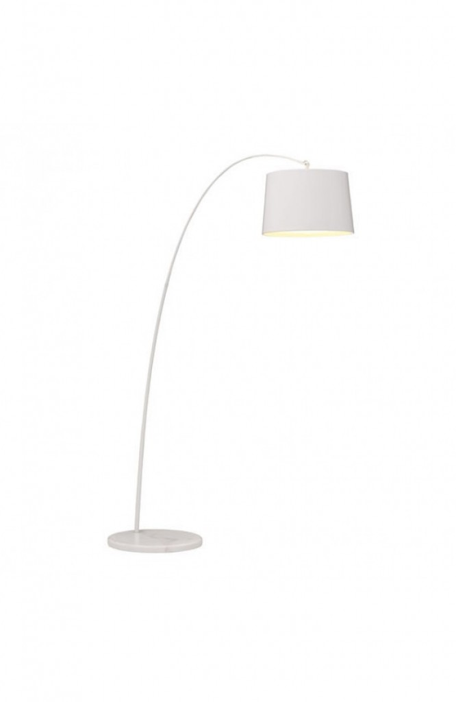 Luxe White Marble Floor Lamp
