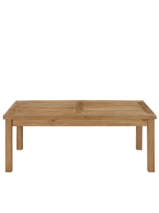 Teak Outdoor Rectangular Coffee Table Modern Furniture