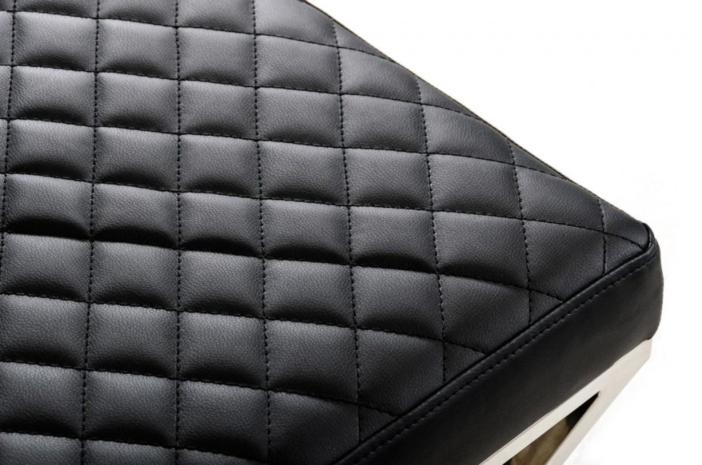 Posh Black Leather Bench 1