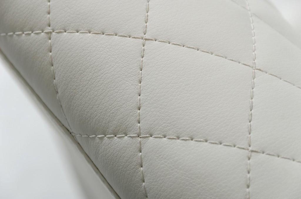 Posh White Leather Bench 2