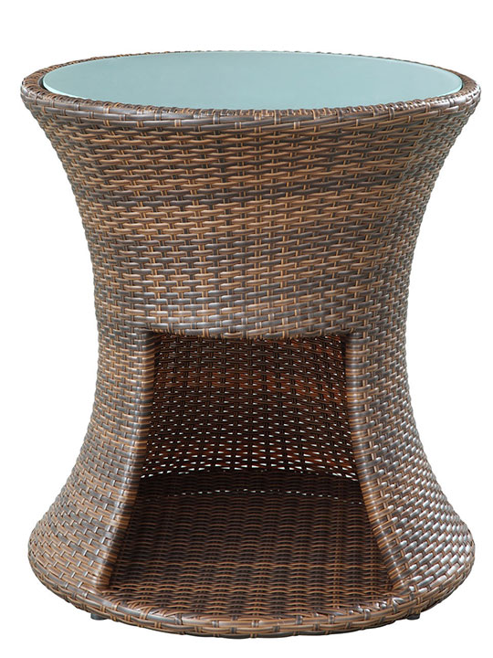 Rattan Drum Side Table 3