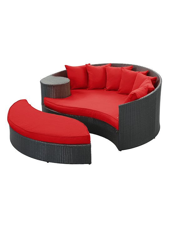 Red Austin Outdoor Sofa Set