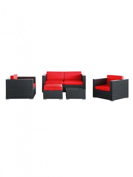 Red Cushion Cayman Espresso 5 Piece Outdoor Set3 461x614