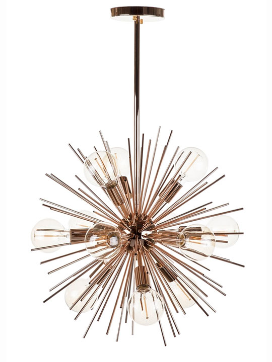 Rose Gold Spine Pendant Lamp 2