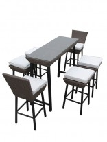 Seaside Outdoor Dining Set 5 156x207