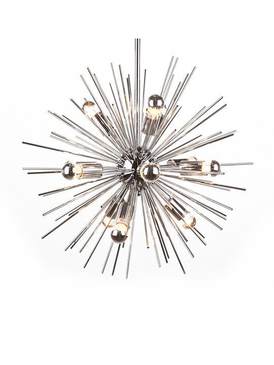 Spine Silver Pendant Light