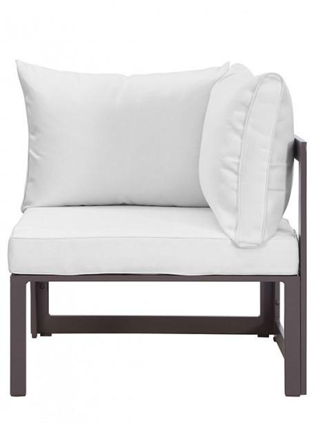 Star Island Corner Chair Brown White Cushion 2 461x614