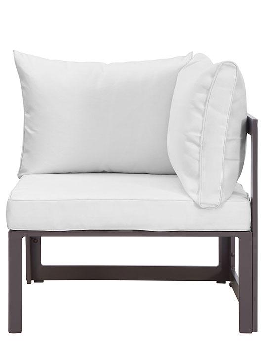 Star Island Corner Chair Brown White Cushion 2