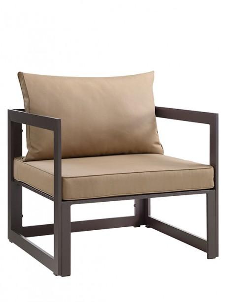 Star Island Outdoor Armchair Brown Light Brown Cushion 2 461x614