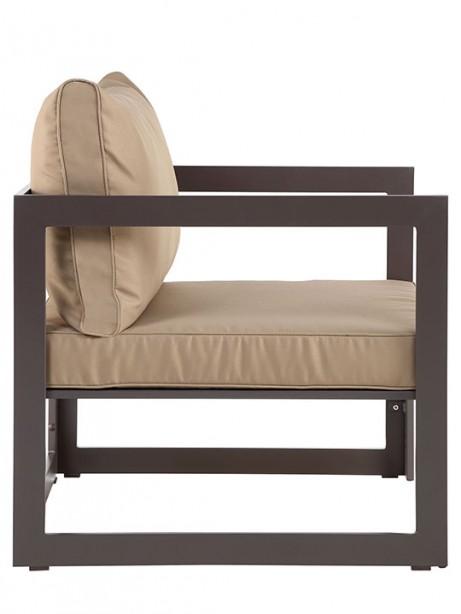 Star Island Outdoor Armchair Brown Light Brown Cushion 461x614