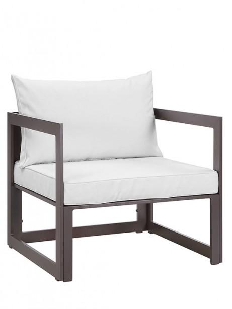 Star Island Outdoor Armchair Brown White Cushion 2 461x614