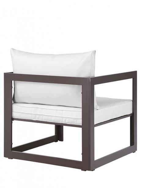 Star Island Outdoor Armchair Brown White Cushion 3 461x614