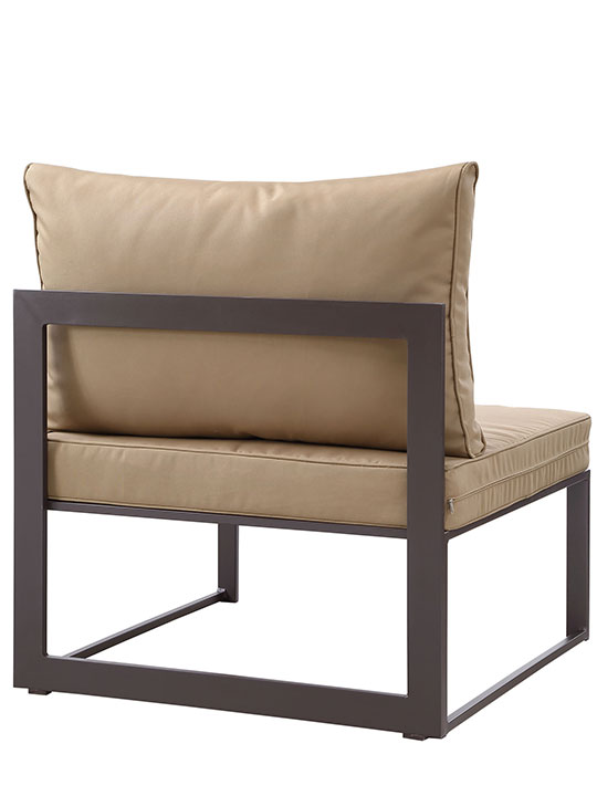 Star Island Outdoor Chair Brown Light Brown Cushion 3