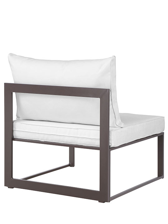 Star Island Outdoor Chair Brown White Cushion 3