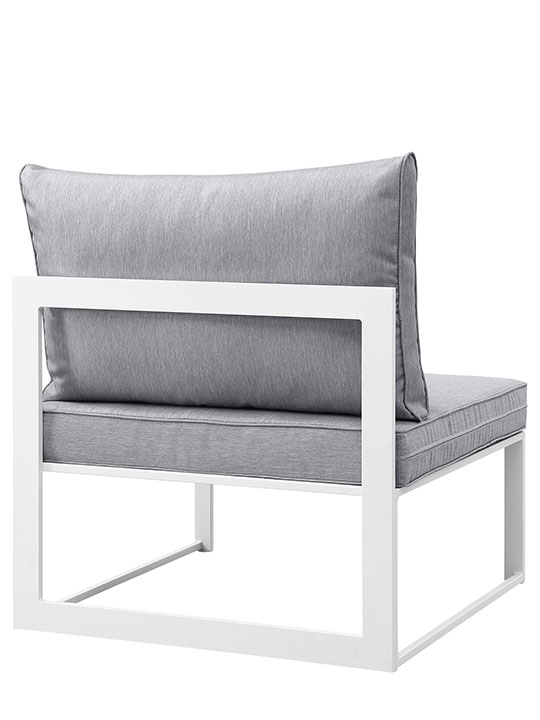 Star Island Outdoor Chair White Gray Cushion 3