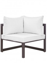 Star Island Outdoor Corner Chair Brown White Cushion 3 156x207