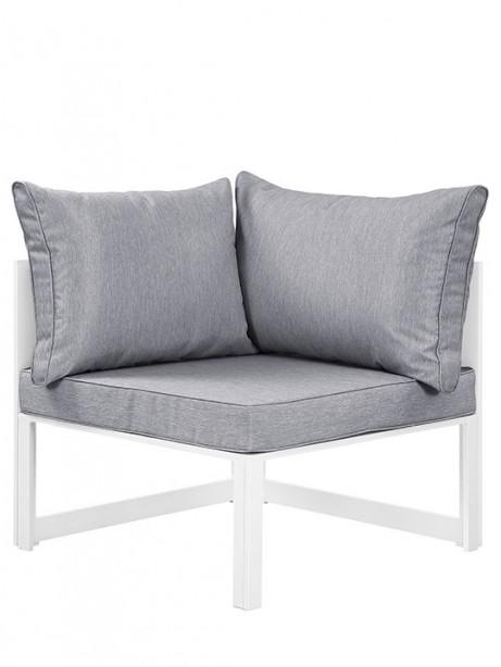 Star Island Outdoor Corner Chair White Gray Cushion 1 461x614