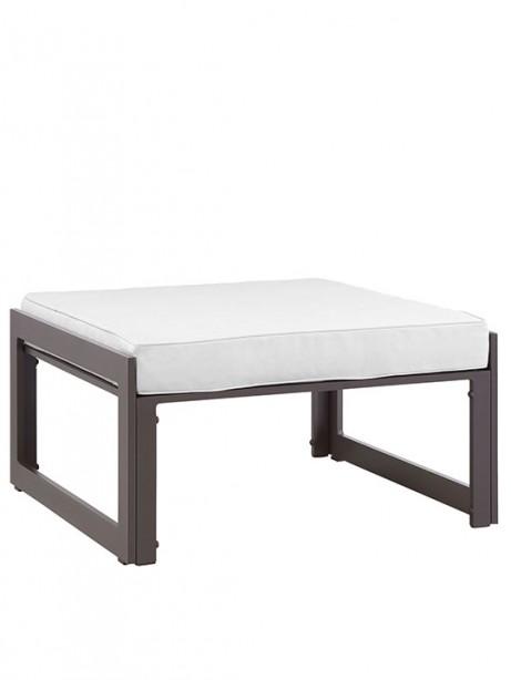 Star Island Outdoor Ottoman Brown White Cushion 461x614