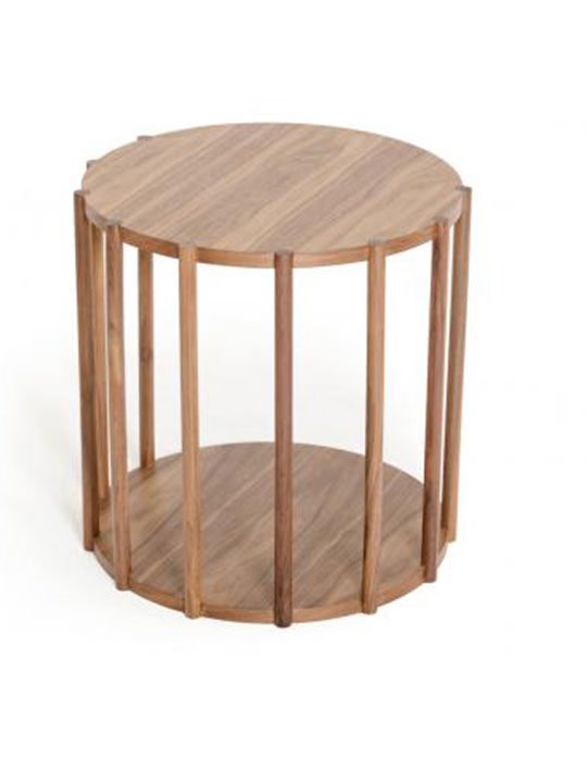 stilt natural wood end table brickell collection modern. Black Bedroom Furniture Sets. Home Design Ideas