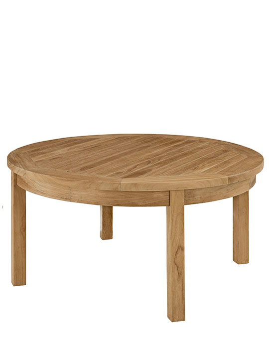 Teak Outdoor Round Coffee Table Modern Furniture