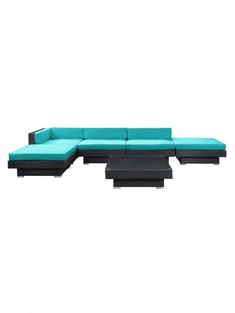 Turquoise Palm Springs 6 Piece Outdoor Sofa Set 461x614