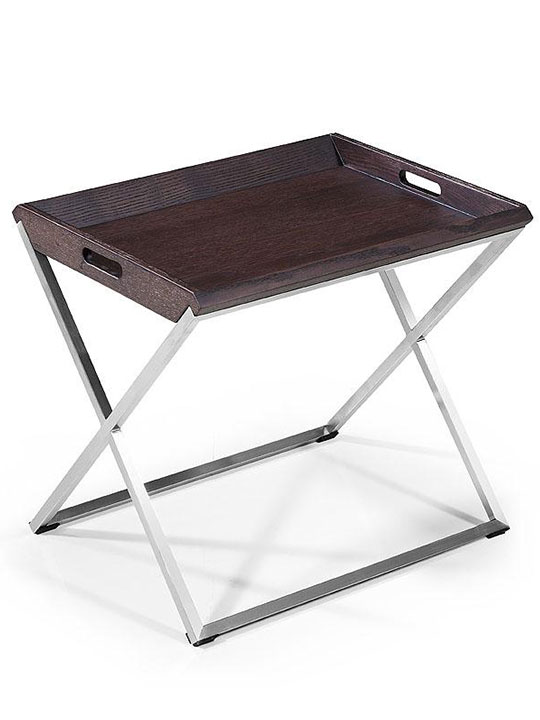 Wenge Wood Tray Side Table