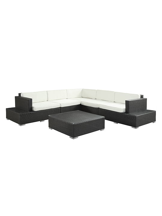 White Cancun 6 Piece Outdoor Sofa Set