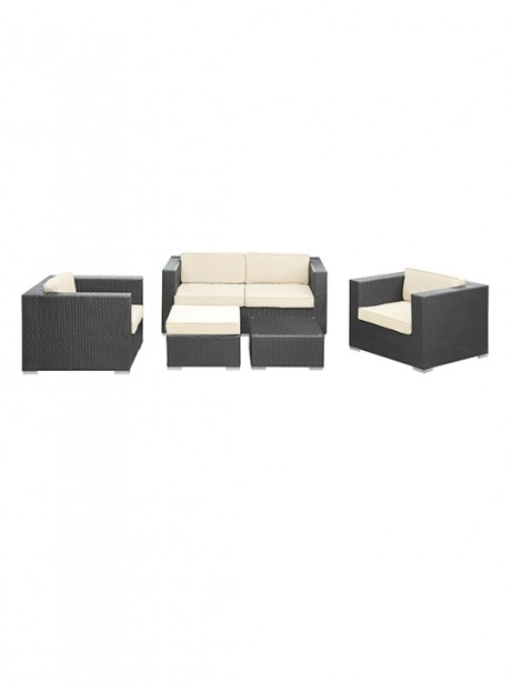 White Cushion Cayman Espresso 5 Piece Outdoor Set1 461x614