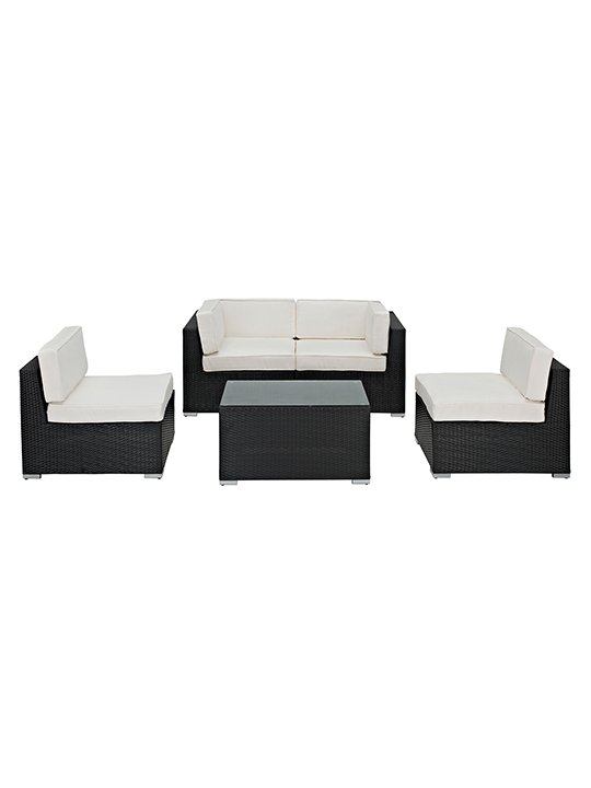 White Montego 5 Piece outdoor Set