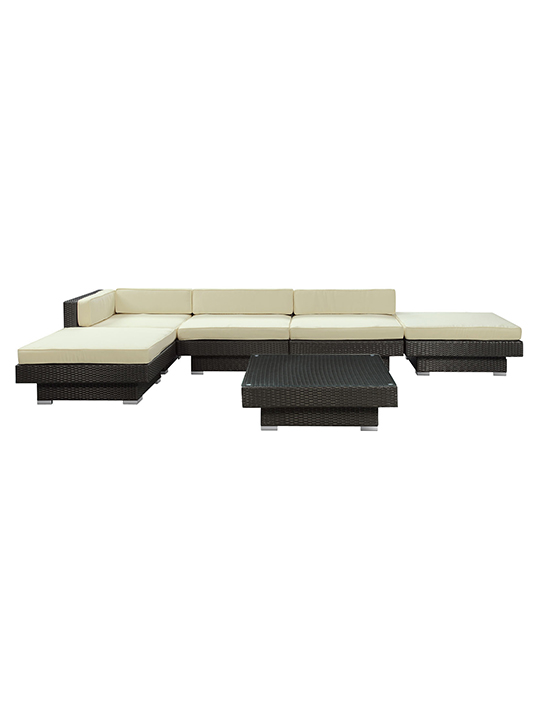 White Palm Springs 6 Piece Outdoor Sofa Set