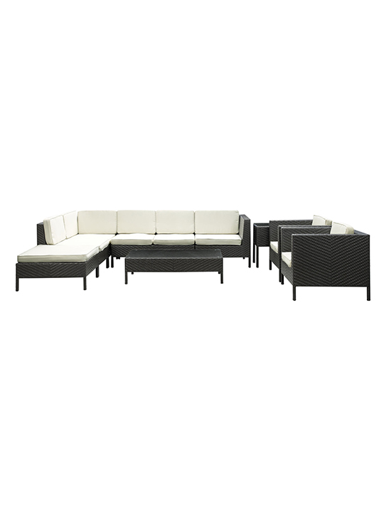 White South Hampton 9 Piece Outdoor Sofa Set