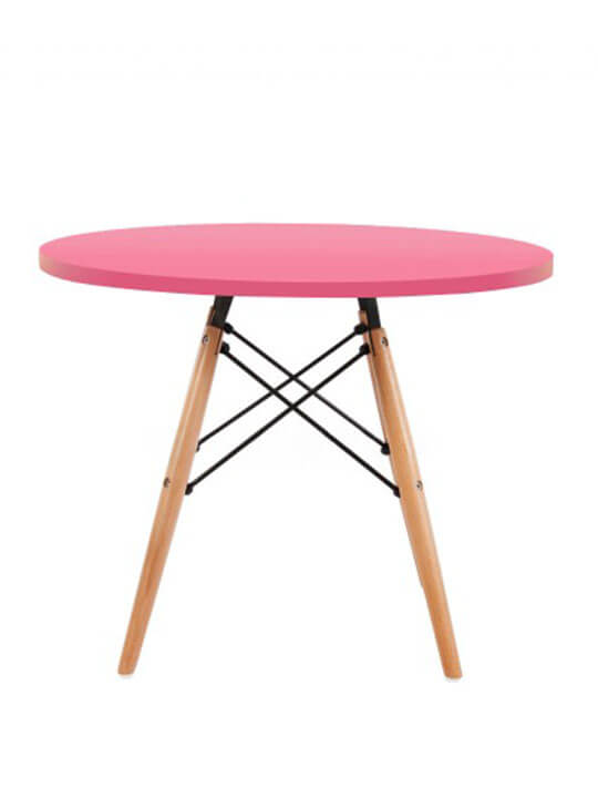 pink ceremony kids wood pink table