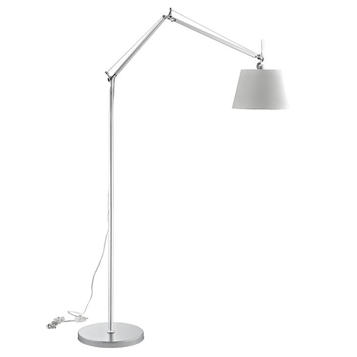 pose floor lamp silver base