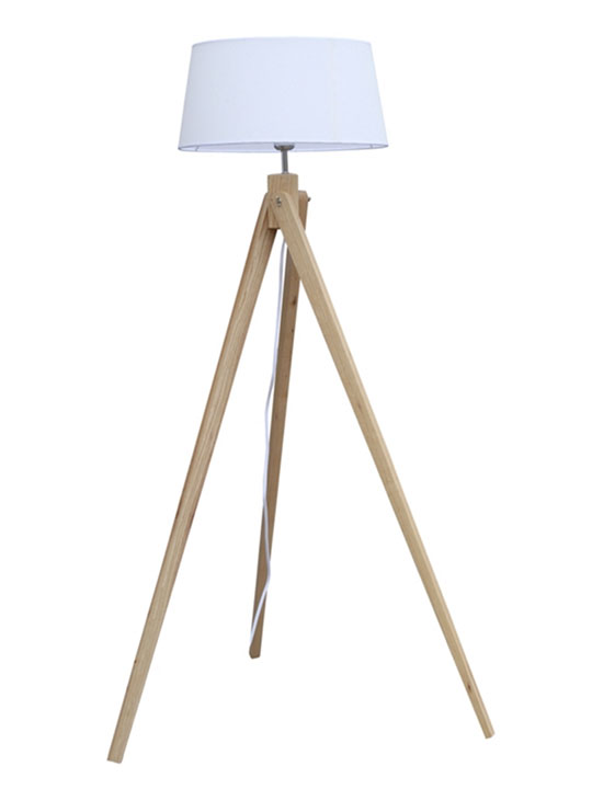 stance natural wood floor lamp