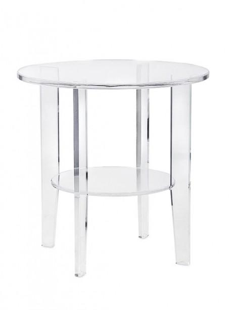 Acrylic Circular End Table 461x614