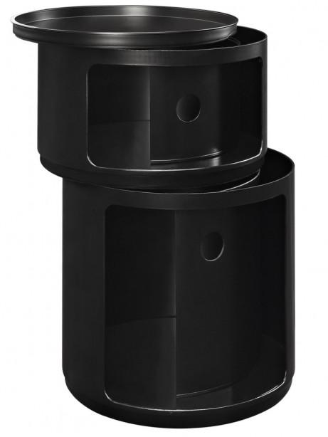 Black Circular 2 Storage Table 1 461x614