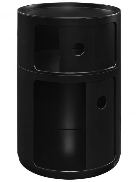 Black Circular 2 Storage Table 2 461x614