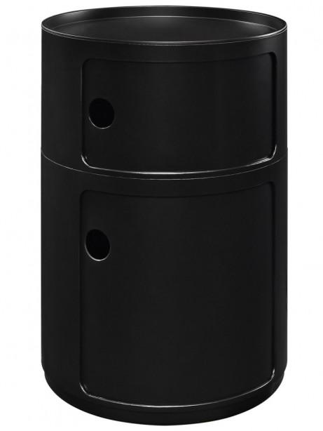 Black Circular 2 Storage Table 3 461x614