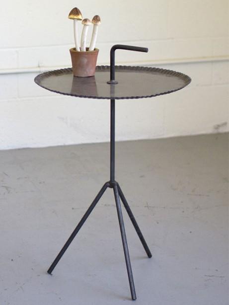 Black Metal Side Table 461x614