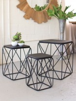 Black Wire Side Table 3 Set 156x207