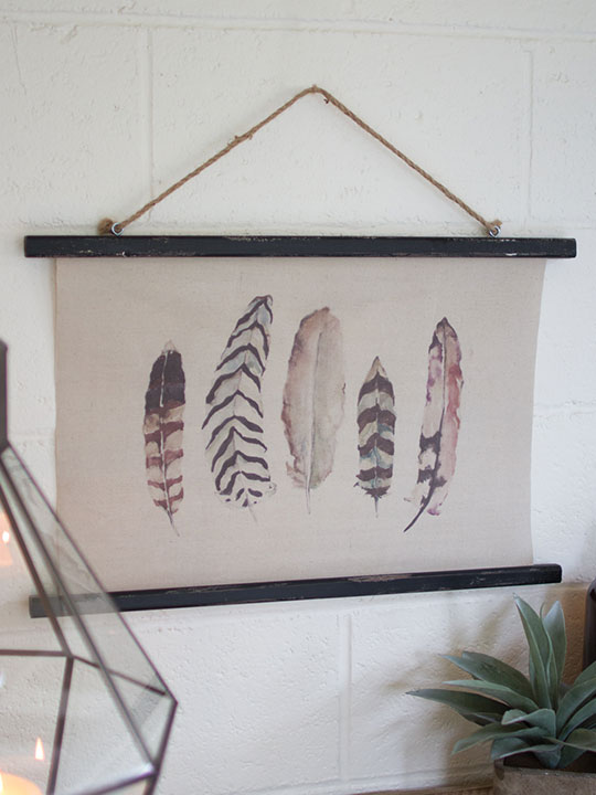 Canvas Feather Art