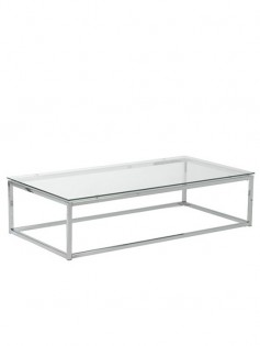 Chrome Glass Coffee Table 237x315
