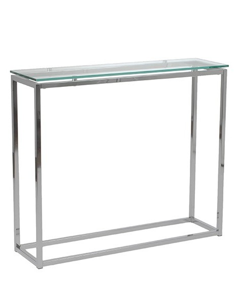 Chrome Glass Console Table 2 461x600