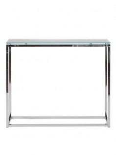 Chrome Glass Console Table 237x315