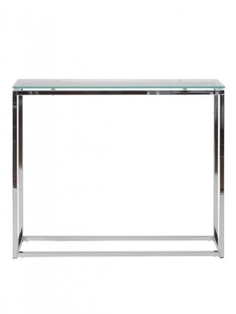 Chrome Glass Console Table 461x614
