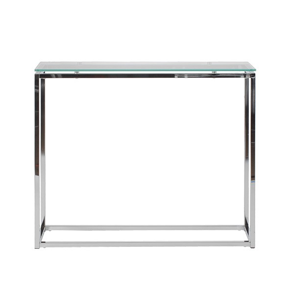 Chrome Glass Console Table1