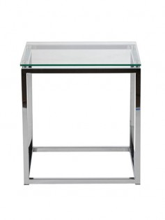 Chrome Glass Side Table 237x315